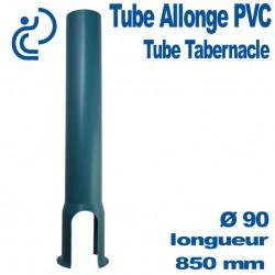 Tube tabernacle 850 mm sans embase en PVC bleu