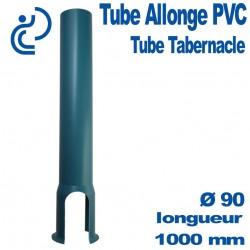 Tube tabernacle 1000 mm sans embase en PVC bleu