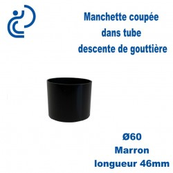 Manchette PVC Marron Ø60 longueur 46mm