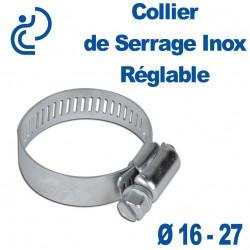Collier de Serrage Inox Réglable 16-27