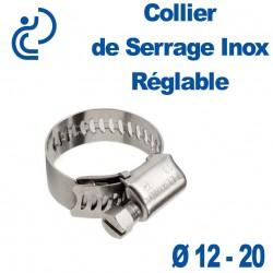 Collier de Serrage Inox Réglable 12-20