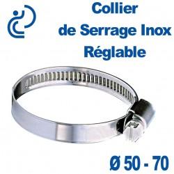 Collier de Serrage Inox Réglable 50-70
