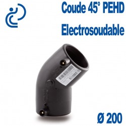Coude 45° Electrosoudable Ø200