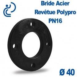 Bride Acier Revêtue Polypropylène Ø40