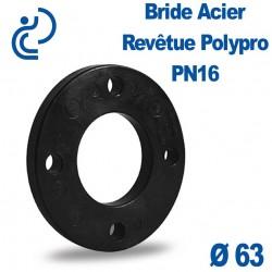 Bride Acier Revêtue Polypropylène Ø63