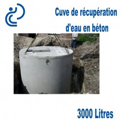 Cuve de récupération d'eau en béton 3000 litres