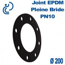 Joint en EPDM Pleine Bride Ø200
