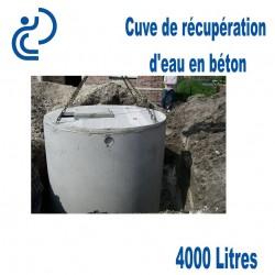 Cuve de récupération d'eau en béton 4000 litres