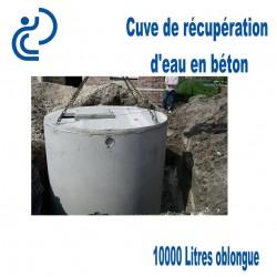 Cuve de récupération d'eau en béton 10000 litres oblongue