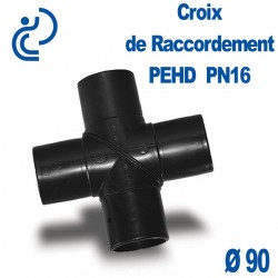 Croix de Raccordement PEHD Ø90 PN16