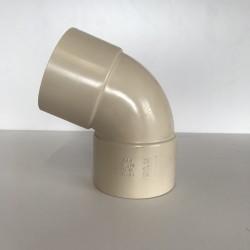 COUDE GOUTTIERE PVC SABLE 67° FF D100