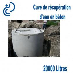 Cuve de récupération d'eau en béton 15000 litres