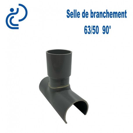Selle de Branchement 63x50 à 90° PVC à coller