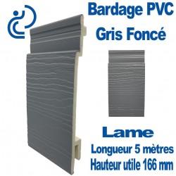 Lame Bardage Gris Foncé PVC cellulaire veiné longueur 5ml