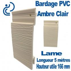 Lame Bardage Ambre Clair PVC cellulaire veiné longueur 5ml