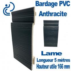 Lame Bardage Anthracite PVC cellulaire veiné longueur 5ml