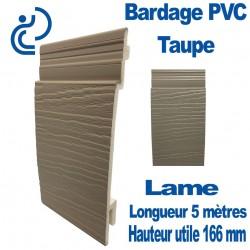 Lame Bardage Taupe PVC cellulaire veiné longueur 5ml