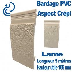 Lame Bardage crépi ambre PVC cellulaire longueur 5ml