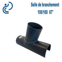 Selle de Branchement 100x100 à 67° PVC à coller