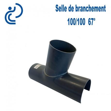 Selle de Branchement 100x100 à 67° PVC à coller