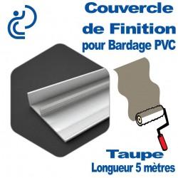 Couvercle de finition Couleur Taupe longueur 5ml Pour bardage PVC