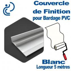 Couvercle de finition Blanc longueur 5ml Pour bardage PVC