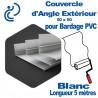 Couvercle d'angle Extérieur ton Coordonné Pour bardage Blanc 50x50 longueur 5ml