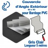 Couvercle d'angle Extérieur ton Coordonné Pour bardage Gris Clair 50x50 longueur 5ml