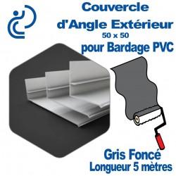 Couvercle d'angle Extérieur ton Coordonné Pour bardage Gris Foncé 50x50 longueur 5ml