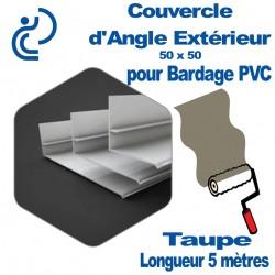 Couvercle d'angle Extérieur ton Coordonné Pour bardage Taupe 50x50 longueur 5ml