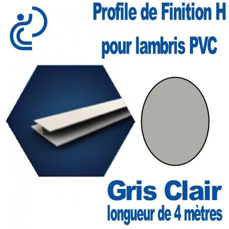 Profile de Finition H Gris Clair Pour Lambris PVC longueur de 4ml