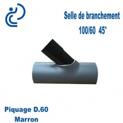 Selle de Branchement 100x60 à 45° PVC à coller