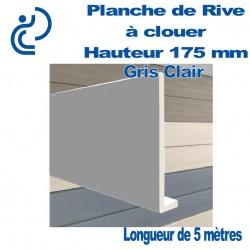 Planche de Rive à Clouer en PVC Gris Clair H175 en L Ep9 longueur de 5ml