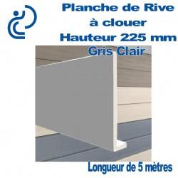 Planche de Rive à Clouer en PVC Gris Clair H225 en L Ep9 longueur de 5ml