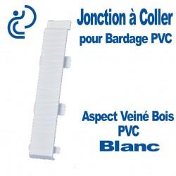 Jonction à Coller PVC Blanc pour Bardage PVC cellulaire Aspect Veiné Bois