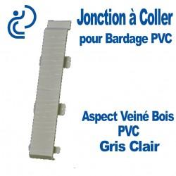 Jonction à Coller PVC Gris Clair pour Bardage PVC cellulaire Aspect Veiné Bois