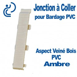 Jonction à Coller PVC Ambre pour Bardage PVC cellulaire Aspect Veiné Bois