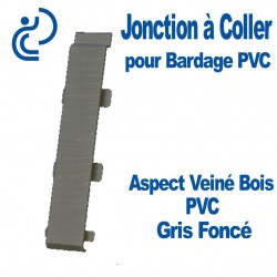 Jonction à Coller PVC Gris Foncé pour Bardage PVC cellulaire Aspect Veiné Bois