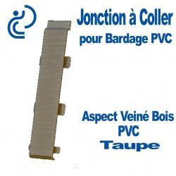 Jonction à Coller PVC Taupe pour Bardage PVC cellulaire Aspect Veiné Bois