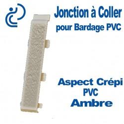 Jonction à Coller PVC Ambre Clair pour Bardage PVC cellulaire Aspect Crépi