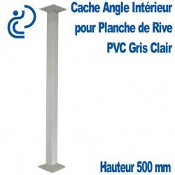 Cache Angle Intérieur Gris Clair Hauteur 500mm pour planche de rive
