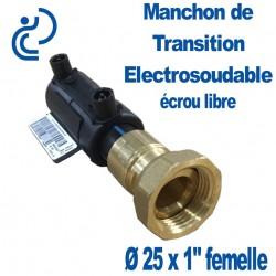 """Manchon de Transition Electrosoudable Écrou Libre Ø25x1"""" femelle"""