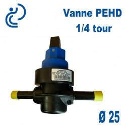Vanne PEHD D25 1/4 TOUR