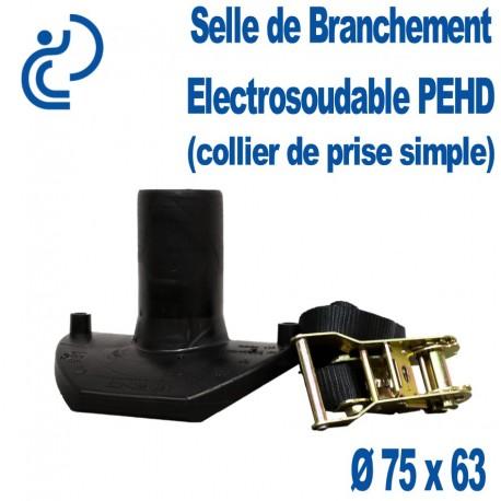 Selle de Branchement PEHD Electrosoudable Ø 75 x 63 (collier de prise simple)