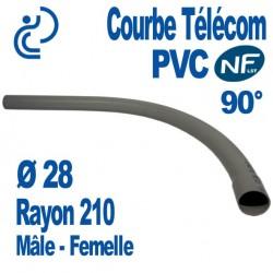 Courbe PVC NFLST 90° D28 R210 MF