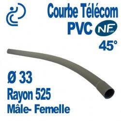 COURBE PVC NFLST 45° D33 R525 MF