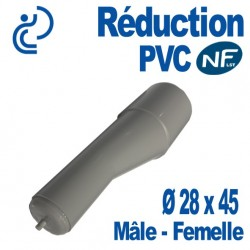 Réduction Télécom PVC à Opercule Ø 45x28 Femelle - Mâle