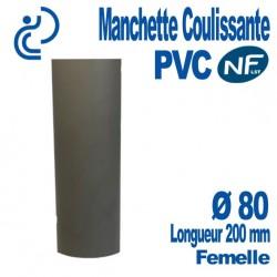 Manchette Coulissante PVC NF-LST Ø80 Femelle Longueur 200 mm