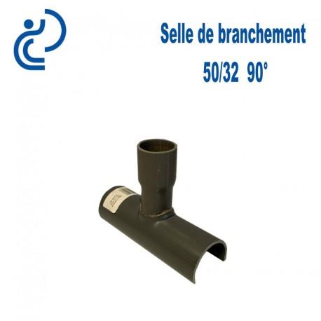 Selle de Branchement 50x32 à 90° PVC à coller