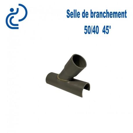 Selle de Branchement 50x40 à 45° PVC à coller